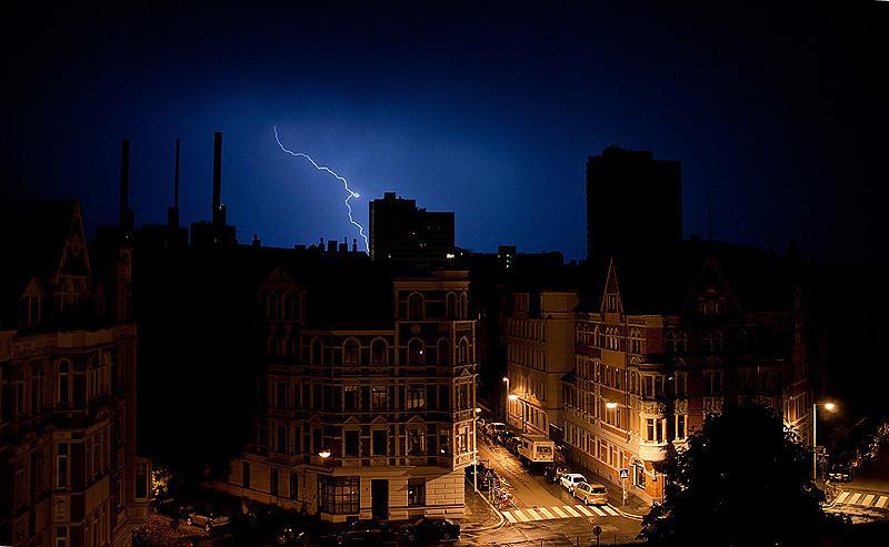 Blitz über Linden