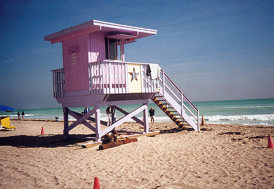 Strandturm am Miami Beach (w Lomo)